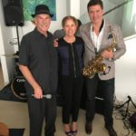 League members with saxophone player