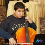 Young man playing cello