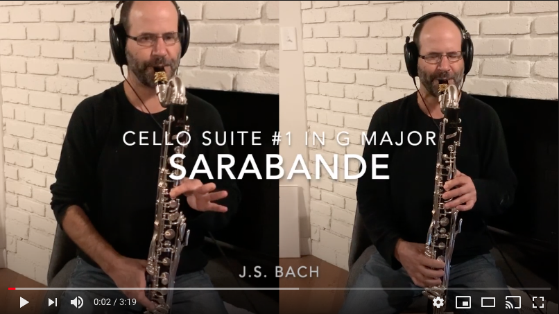 Bach cello suites arranged for bass clarinet